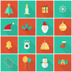 Christmas-icons-vectors