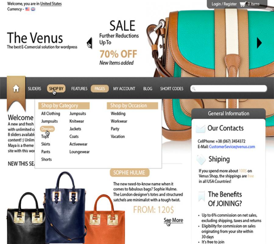Temi e-commerce gratis per WordPress