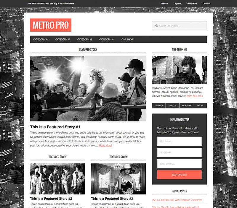 7bb31231aab9 Scegli StudioPress se vuoi avere una grafica professionale e un sito web  già responsive che si adatti automaticamente a tutti gli schermi.
