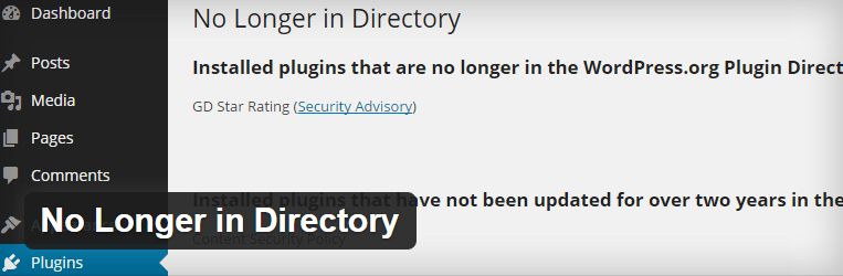 No Longer in Directory
