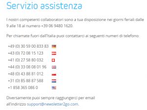 Newsletter2GO-Assistenza