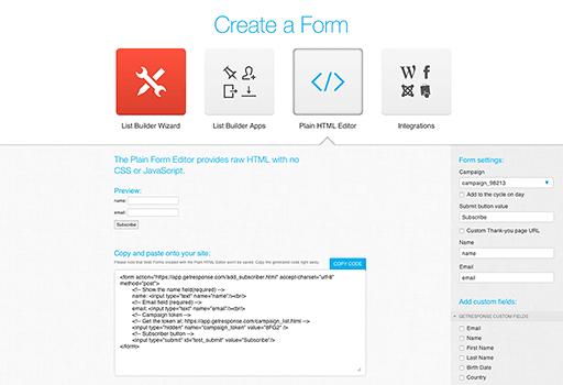 getresponse-plain-html-editor